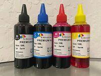 4 Bulk refill ink for HP inkjet printer 4 colors 4x100ml Black/Cyan/Magenta/Yell
