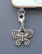 Butterfly cell phone Charm Anti Dust proof Plug ear jack Fits iPhone 4 5 6 S191