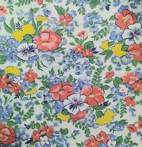 Full Opened Vintage Floral Feedsack