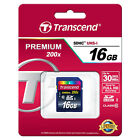 Transcend 16 GB Class 10 SDHC Flash Memory Card New In Original Packaging