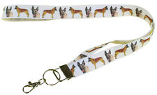 More details for belgian malinois breed of dog lanyard key card holder perfect gift