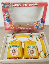 Walt Disney Edition - Vintage MICKEY MOUSE AND DONALD Telephone Set (1990) RARE