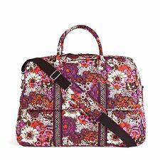 """Vera Bradley Beautiful """"Rosewood"""" Grand Traveler Travel Bag NWT!"""