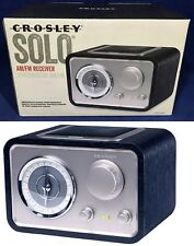 NEW Crosley SOLO AM/FM RADIO Receiver CR3003A-BK Black MID-CENTURY DESIGN