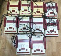 Nintendo Family Computer Famicom NES Console 10 LOT set Untested HVC-001