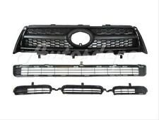 2009-2012 RAV4 2.5L BASE/SPORT FRONT BUMPER GRILLE UPPER LOWER + BLK GRILLE 3PC