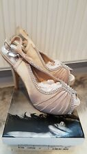 DIAMANTE SLING BACK SHOES SIZE 4 BN
