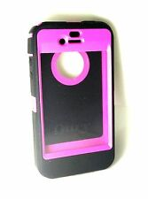 New OtterBox Defender Series Case for Apple iPhone 4/4G/4S Black/Pink No Clip!