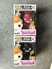 SDCC Freddy Funko as The Devil Black and Red Set Cuphead POP Fundays 2018 500 pc