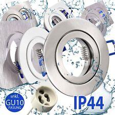 Bad Feuchtraum Einbaustrahler Einbaurahmen GU10 LED Deckenstrahler IP44 Spot