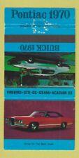 Matchbook Cover - 1970 Buick Pontiac GTO Firebird  Montmagny QC WEAR 30 Strike