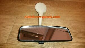 VW CLASSIC BEETLE 1968on GENUINE *LHD ONLY* REAR VIEW MIRROR WITH DIP 113857511J