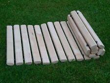 Chemin ou allée en lattes de bois massif, paillasson ext/ int -  90 x 45 cm