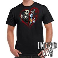 Disney Nightmare Before Christmas Jack and Sally - Mens T Shirt