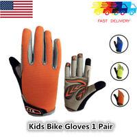 Kids Bike Gloves Girl Children Full Long Finger MTB BMX Grip Touch Screen Unisex