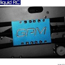 GPM Racing TMX1014A Traxxas T-Maxx Blue Aluminum Center Skid Plate