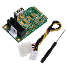4pin Power Mini PCI-E to PCI-E1x Board USB2.0 Adapter PCI Express Interface Card