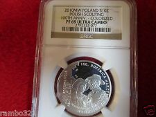 Poland .925 Silver Coin NGC PF69 Polish Boy Scouts Scouting pcgs europe cub