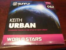 SUNFLY WORLD STARS KARAOKE DISC SFWS062 KEITH URBAN CD+G SEALED 15 TRACKS
