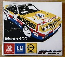 OPEL MANTA 400 Russell Brookes / Andrews calore Rally Motorsport Adesivo / Decalcomania