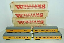 WILLIAMS SET OF FOUR UNION PACIFIC MADISON STYLE ILLUMINATED PASSENGER CARS NICE