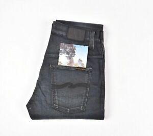 Nudie Jeans Fin Finn Nightster Bleu Foncé Hommes Jean En Taille 32/32
