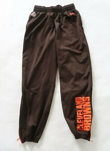 NFL Cleveland Browns Mens Polyester Dri Fit Brown Jogger Sweat Pants Nike Medium