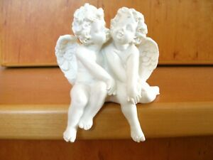 Gilde Engel Kantenhocker Engelpaar weiss wetterfest -B-
