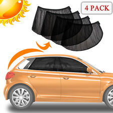 4 PACK Car Side Window Sun Visor Shade Mesh Cover Shield Sunshade UV Protector