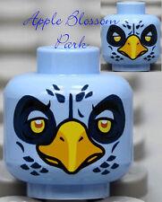 NEW Lego Light BLUE MINIFIG BIRD HEAD Chima Ewald w/Yellow Beak Dark Eagle Eyes