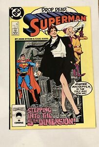 Superman #11 Nov 1987 DC Comics Drop Dead Byrne Kesel FREE SHIPPING