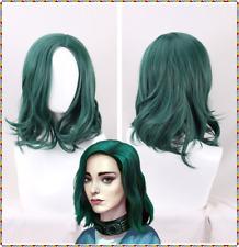 Polaris Lorna Dane Synthetic Green Sexy Short Wavy curly Wig For Women+a wig cap
