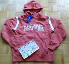 NWT Cleveland Browns NFL For Her Reebok Full Zip Hoodie Jacket Women Ladies L