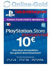 Compte français - Carte Playstation Network 10 EUR - €10 PSN Jeu PS3 PS4 PS Vita