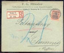DR 1900 59 R-BRIEF POSTAUFTRAG DRESDEN 100€(B0347