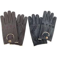 Gants classiques noires en cuir pour homme