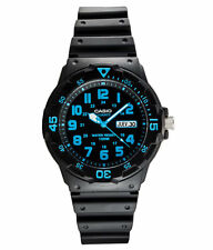 Men Black CASIO MRW-200H-2 Diver-look Quartz Wrist Strap Day and Date watch