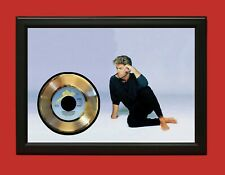 George Michael Poster Art Wood Framed 45 Gold Record Display C3