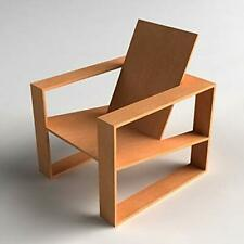 Rare Interior and decor Modern Natural Wooden Chair for Home Living Room