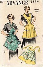 1950's VTG Advance Misses' Aprons Pattern 5884 Size M