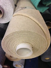 Horsebox carpet for wall lining 20sq mtrs roll (10m x 2m) SAND Smooth Finish