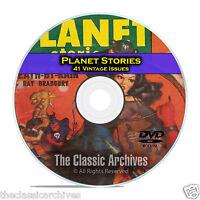 Planet Stories, 41 Vintage Pulp Magazines, Golden Age Science Fiction DVD CD C54
