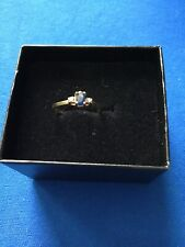 10k Yellow Gold Sapphire And Diamond Ring Size 5.75