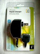 NEW iessentials Apple iPower RAPID Wall CHARGER Travel Charger for iPod & iPhone