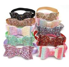 Christmas Party Valentine Birthday Dog Cat Pet Glitter Bow Tie Collar Adjustable