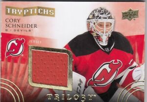 CORY SCHNEIDER NO:T-NJD3 JERSEY TRYPTICHS 257/400 in UD TRILOGY 14-15    a
