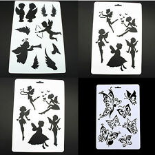 Angel Butterfly Layering Stencils Painting Scrapbooking Stamps Album DIY Craft