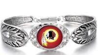 Washington Redskins Women's Sterling Silver Bracelet Football Gift +GiftPkg D3-1