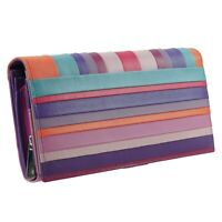 Ladies Flap Over Leather Purse/Wallet by Golunski Graffiti Collection Gift Boxed