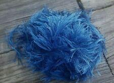 Sale! Grab Bag Yummy Novelty Eyelash Yarn In Sapphire Weighing Almost 2 Oz!
